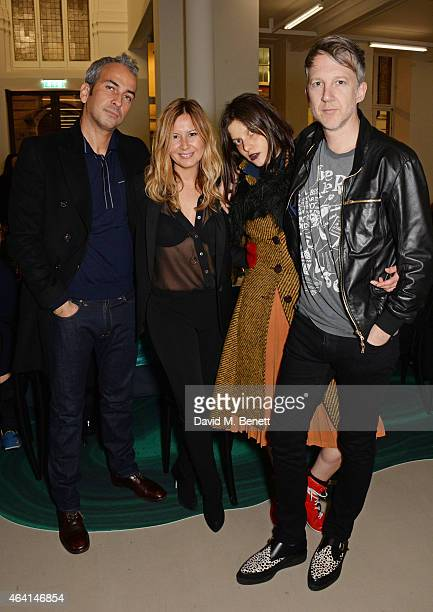 Alphan Eseli Demet Muftuoglu Tati Cotliar and Jefferson Hack attend the Delfina Delettrez London boutique opening dinner during London Fashion Week...