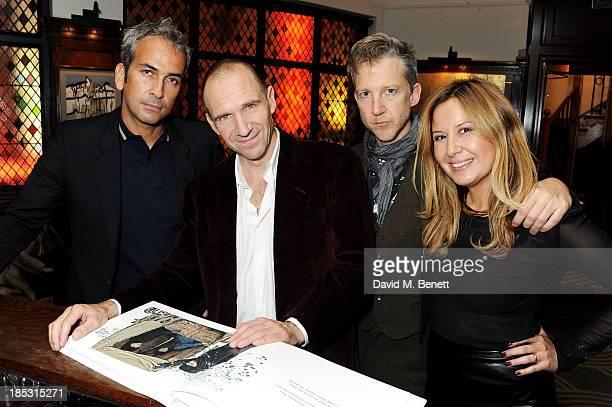 Alphan Eseli Ralph Fiennes Jefferson Hack and Demet Muftuoglu Eseli attend the dinner hosted by Demet Muftuoglu Eseli Jefferson Hack to celebrate the...