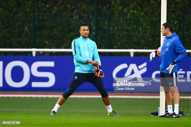 Alphonse AREOLA / Franck RAVIOT Entrainement Equipe de France Clairefontaine Photo Dave Winter / Icon Sport