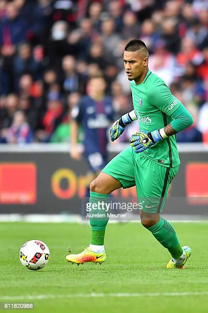 Alphonse Areola of Paris SaintGermain in action during the Ligue 1 match between Paris SaintGermain and FC Girondins de Bordeaux at Parc des Princes...
