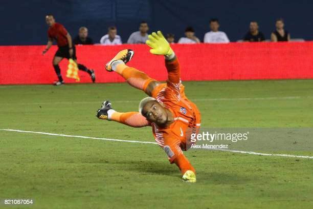 Alphonse Areola of Paris SaintGermain watches as the ball passes him for a goal during the International Champions Cup 2017 match between Paris...