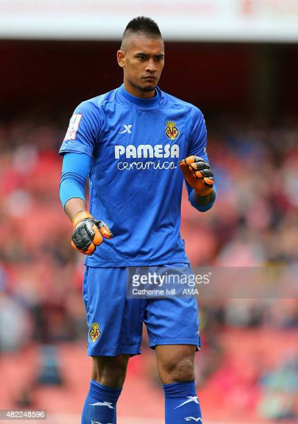 Alphonse Areola of Villareal during the Emirates Cup match between Olympique Lyonnais and Villarreal at Emirates Stadium on July 26 2015 in London...