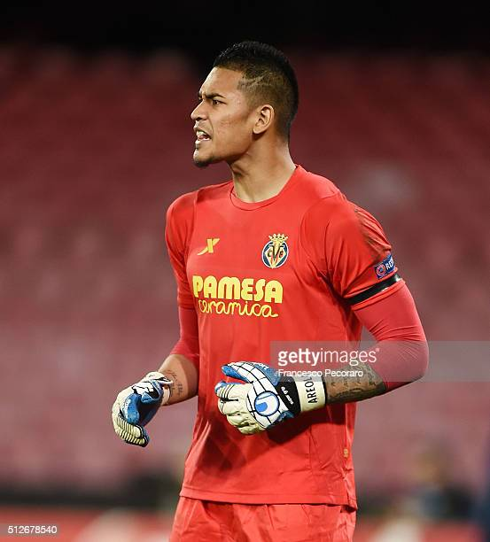 Alphonse Areola of Villareal Round of 32 second leg match between SSC Napoli and Villarreal FC on February 25 2016 in Naples Italy