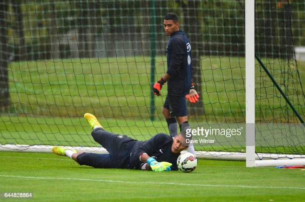 Alphonse AREOLA / Zacharie BOUCHER Entrainement Equipe de France Espoirs Clairefontaine Photo Dave Winter / Icon Sport