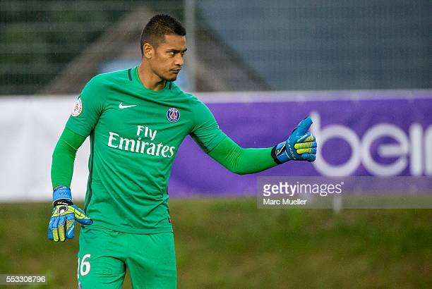 Alphonse Aréola goalkeeper of Paris St Germain seen during a friendly match against West Bromwich Albion on July 13 2016 in Schladming Austria