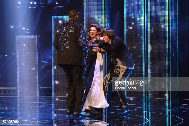 Alphonso Williams Maria Voskania and Alphonso Williams during the fourth event show and semi finals of the tv competition 'Deutschland sucht den...