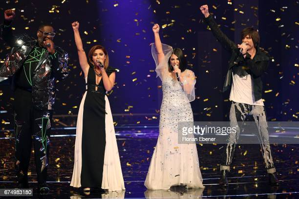 Alphonso Williams Maria Voskania Duygu Goenel and Alexander Jahnke during the fourth event show and semi finals of the tv competition 'Deutschland...
