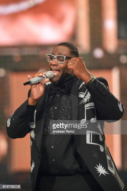 Alphonso Williams performs during the finals of the tv competition 'Deutschland sucht den Superstar' at Coloneum on May 6 2017 in Cologne Germany