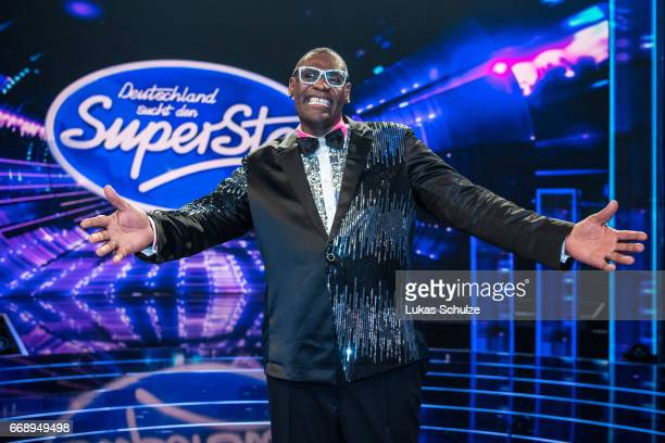 Alphonso Williams poses after the second event show of the tv competition 'Deutschland sucht den Superstar' at Coloneum on April 15 2017 in Cologne...