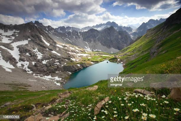 alpin lake gufelsee in tirol - austria