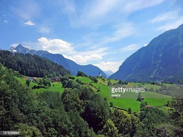 Alpine Blick ins Zillertal