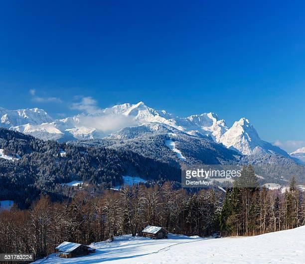 Alpine Hütte aus Garmisch-Partenkirchen, Deutschland