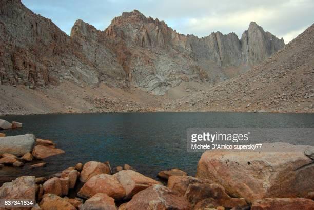 Alpine lake and jagged granite peaks