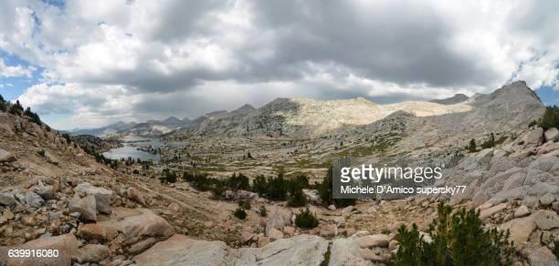Alpine lake in a barren granite landscape