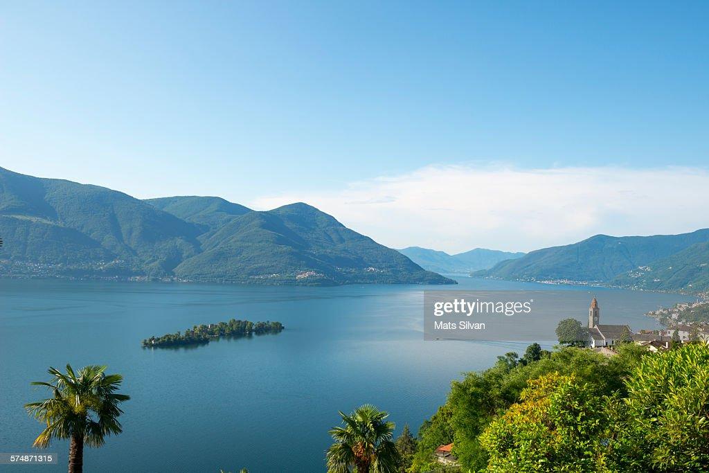 Alpine lake Maggiore