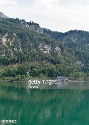 Alpine lake Mondsee autumn landscape, Austria : Stock Photo