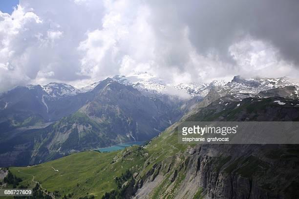 Alpine lake, Wetzsteinhorn mountain, Tseuzier, Switzerland