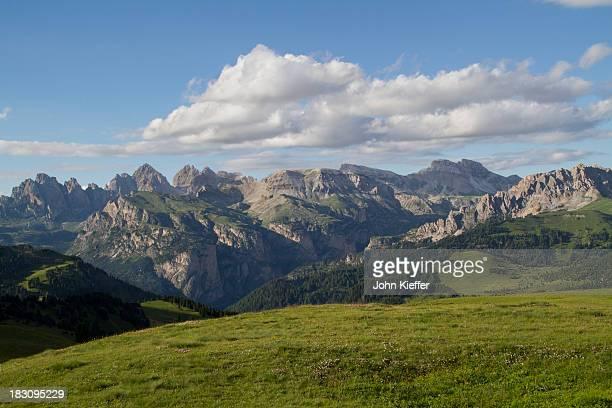 Alpine meado in the Dolomite Alps