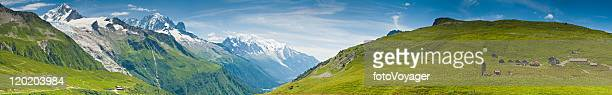 Alpweiden Berge Hütten