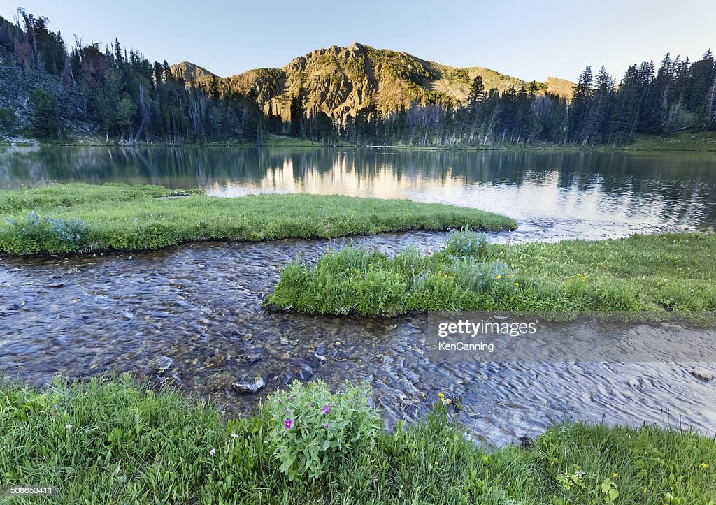 Alpine Mountain and Lake : Stock Photo