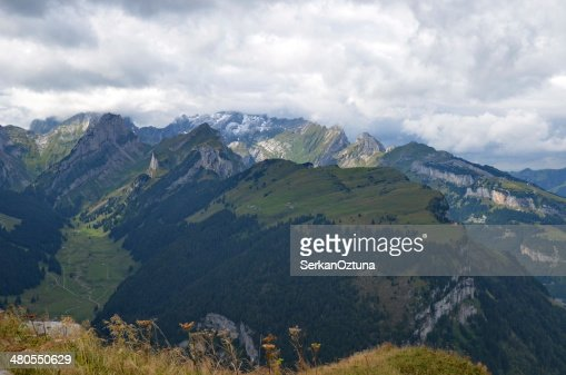 Alpine mountains at Hoherkasten : Stock Photo