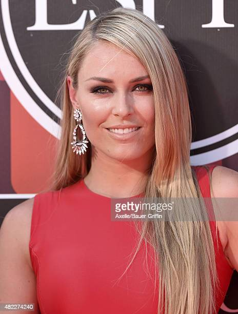 Alpine ski racer Lindsey Vonn arrives at The 2015 ESPYS at Microsoft Theater on July 15 2015 in Los Angeles California