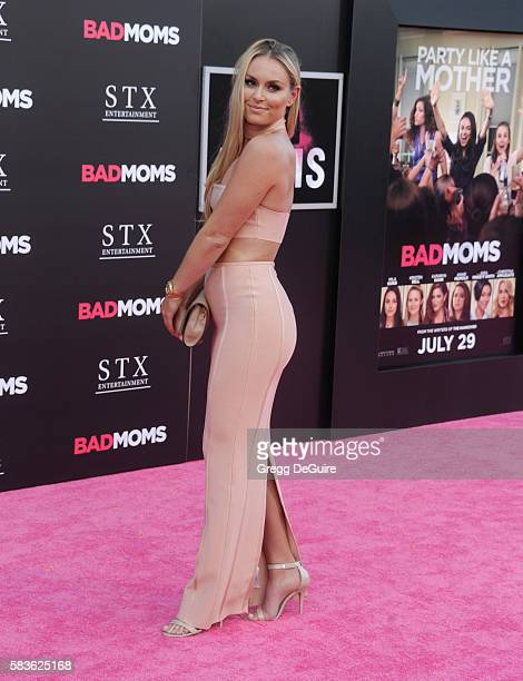 Alpine ski racer Lindsey Vonn arrives at the premiere of STX Entertainment's 'Bad Moms' at Mann Village Theatre on July 26 2016 in Westwood California