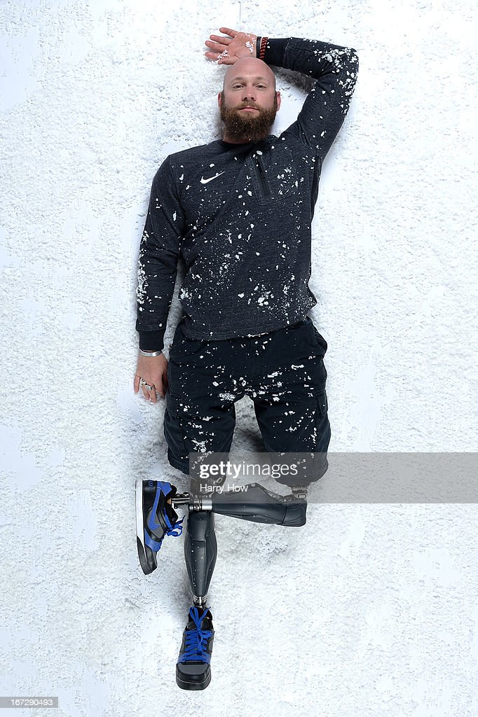 Alpine skier Heath Calhoun poses for a portrait during the USOC Portrait Shoot on April 23, 2013 in West Hollywood, California.