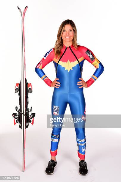 Alpine skier Julia Mancuso poses for a portrait during the Team USA PyeongChang 2018 Winter Olympics portraits on April 29 2017 in West Hollywood...