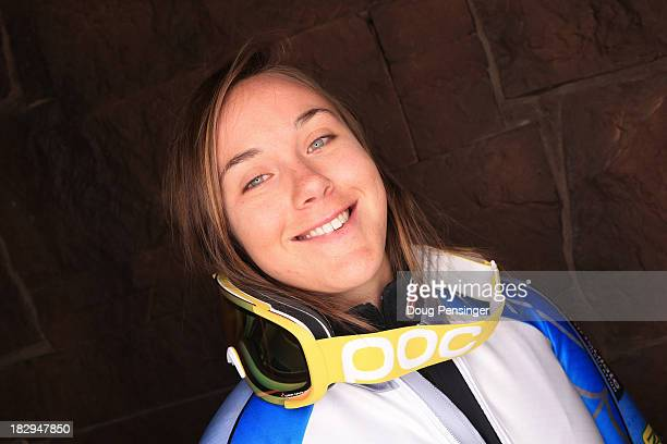 Alpine Skier Leanne Smith poses for a portrait during the USOC Media Summit ahead of the Sochi 2014 Winter Olympics on October 2 2013 in Park City...