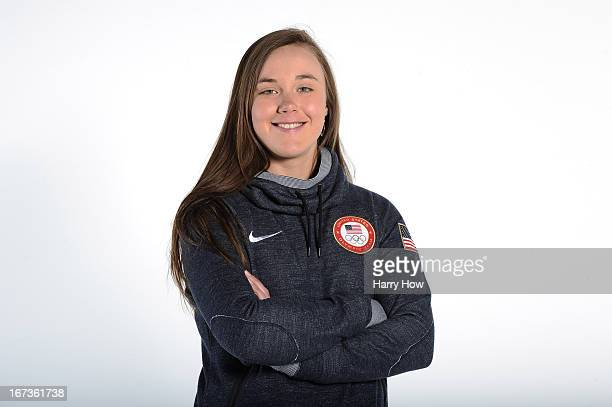 Alpine skier Leanne Smith poses for a portrait during the USOC Portrait Shoot on April 24 2013 in West Hollywood California