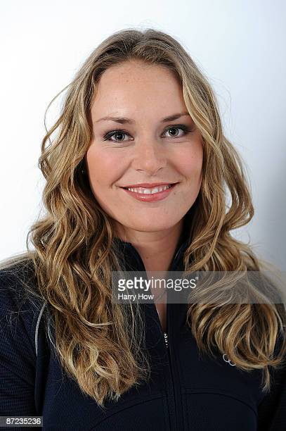 Alpine skier Lindsey Vonn poses for a portrait during the NBC/USOC Promotional Photo Shoot on May 13 2009 at Smashbox Studios in Los Angeles...