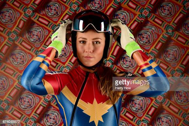 Alpine skier Mikaela Shiffrin poses for a portrait during the Team USA PyeongChang 2018 Winter Olympics portraits on April 27 2017 in West Hollywood...
