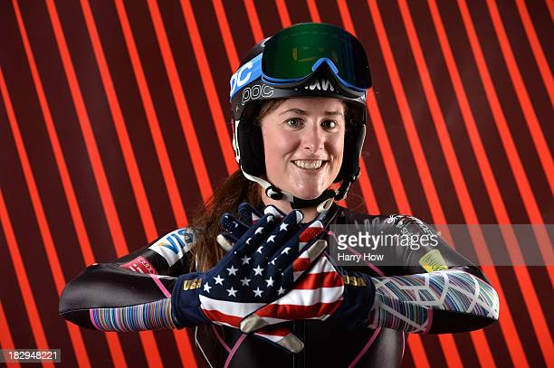 Alpine Skier Stacey Cook poses for a portrait during the USOC Media Summit ahead of the Sochi 2014 Winter Olympics on October 2 2013 in Park City Utah