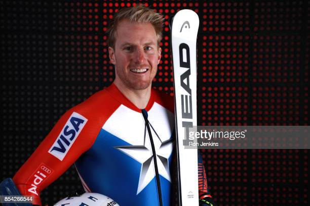 Alpine skier Ted Ligety poses for a portrait during the Team USA Media Summit ahead of the PyeongChang 2018 Olympic Winter Games on September 26 2017...