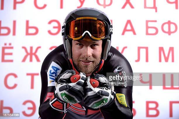 Alpine skier Travis Ganong poses for a portrait during the USOC Media Summit ahead of the Sochi 2014 Winter Olympics on September 29 2013 in Park...