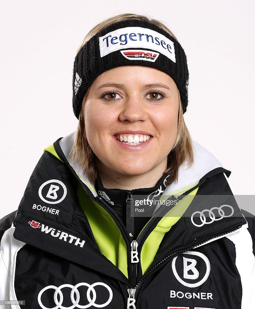 Alpine skier <a gi-track='captionPersonalityLinkClicked' href=/galleries/search?phrase=Viktoria+Rebensburg&family=editorial&specificpeople=4152387 ng-click='$event.stopPropagation()'>Viktoria Rebensburg</a> of Germany poses during a photo call on October 26, 2010 in Ingolstadt, Germany.