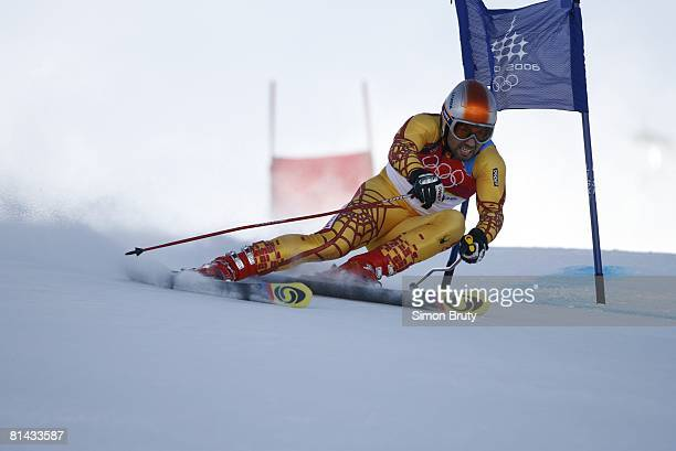 Alpine Skiing 2006 Winter Olympics Canada Francois Bourque in action during Giant Slalom 1st Run at Sestriere Colle Sestriere Italy 2/20/2006