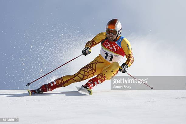 Alpine Skiing 2006 Winter Olympics Canada Francois Bourque in action during Giant Slalom 2nd Run at Sestriere Colle Sestriere Italy 2/20/2006