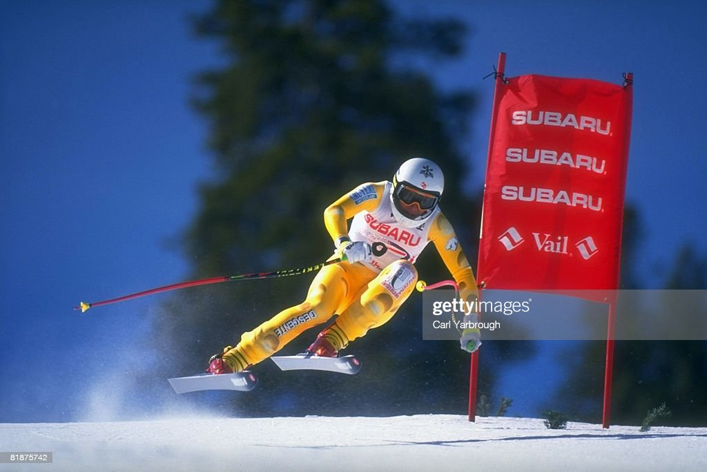 World Cup, CHE Vreni Schneider in action during competition, Vail, CO 3/16/1994