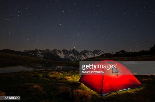Alpine tent : Stock Photo