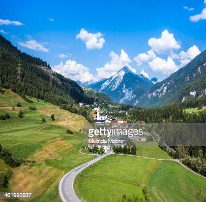 Alpine village Guarda, Switzerland