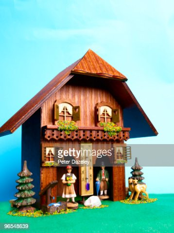 Alpine weather house : Photo