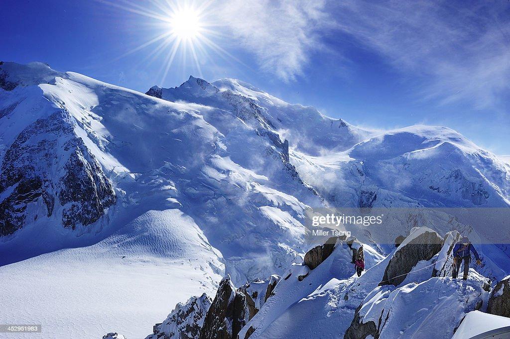 Alpinist in Mont Blanc