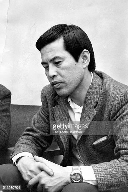 Alpinist Masaru Morita speaks during the Asahi Shimbun interview on March 20 1970 in Tokyo Japan