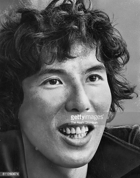Alpinist Yasuo Kato speaks during the Asahi Shimbun interview on May 29 1980 in Tokyo Japan