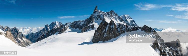 Alps white wilderness dramatic mountains peaks panorama