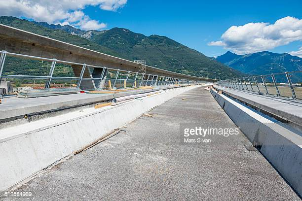 Alptransit under construction who have the longest train tunnel in the world in Ticino Switzerland