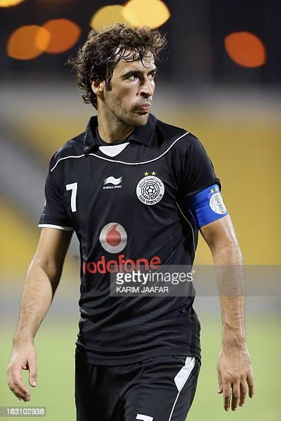 AlSadd's Spanish forward Raul looks on during their Qatar Stars League football match against Umm Salal in Doha on October 4 2013 AFP PHOTO / ALWATAN...