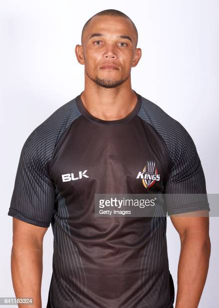 Alshaun Bock poses during a Kings Super Rugby headshots session on January 12 2017 in Port Elizabeth South Africa